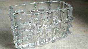 Rare-Vase-Crystal-Of-Boheme-Modernist-Geometric-Rectangular-Vintage