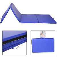 Goplus 4'x10'x2 Gymnastics Mat Gym Folding Exercise Mats Stretching Yoga Blue on sale