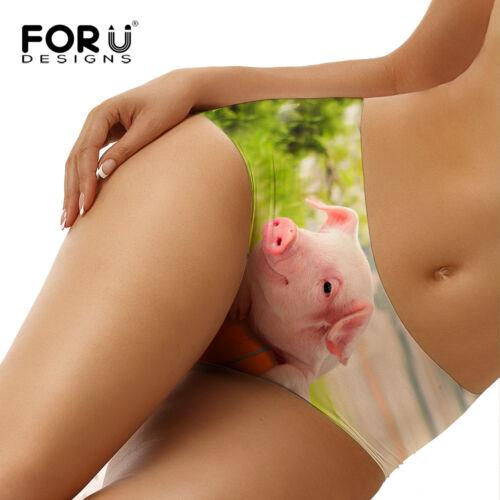 Cute 3D Pig Women Underwear Lady Bikini Brief Panty Seamless Soft Pants Knickers