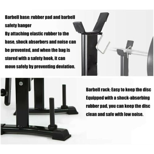 Olympic Weight Bench Set Press Squat Fitness Barbell Workout Lifting Weights Gym