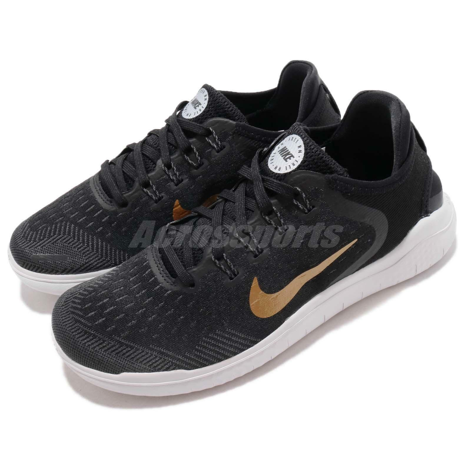 Nike Wmns Free RN 2018 Run Black gold Women Running shoes Sneakers 942837-008