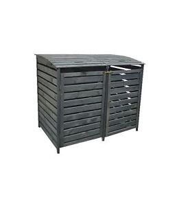 m lltonnenbox vario iii f r 2 tonnen holz anthrazit ebay. Black Bedroom Furniture Sets. Home Design Ideas