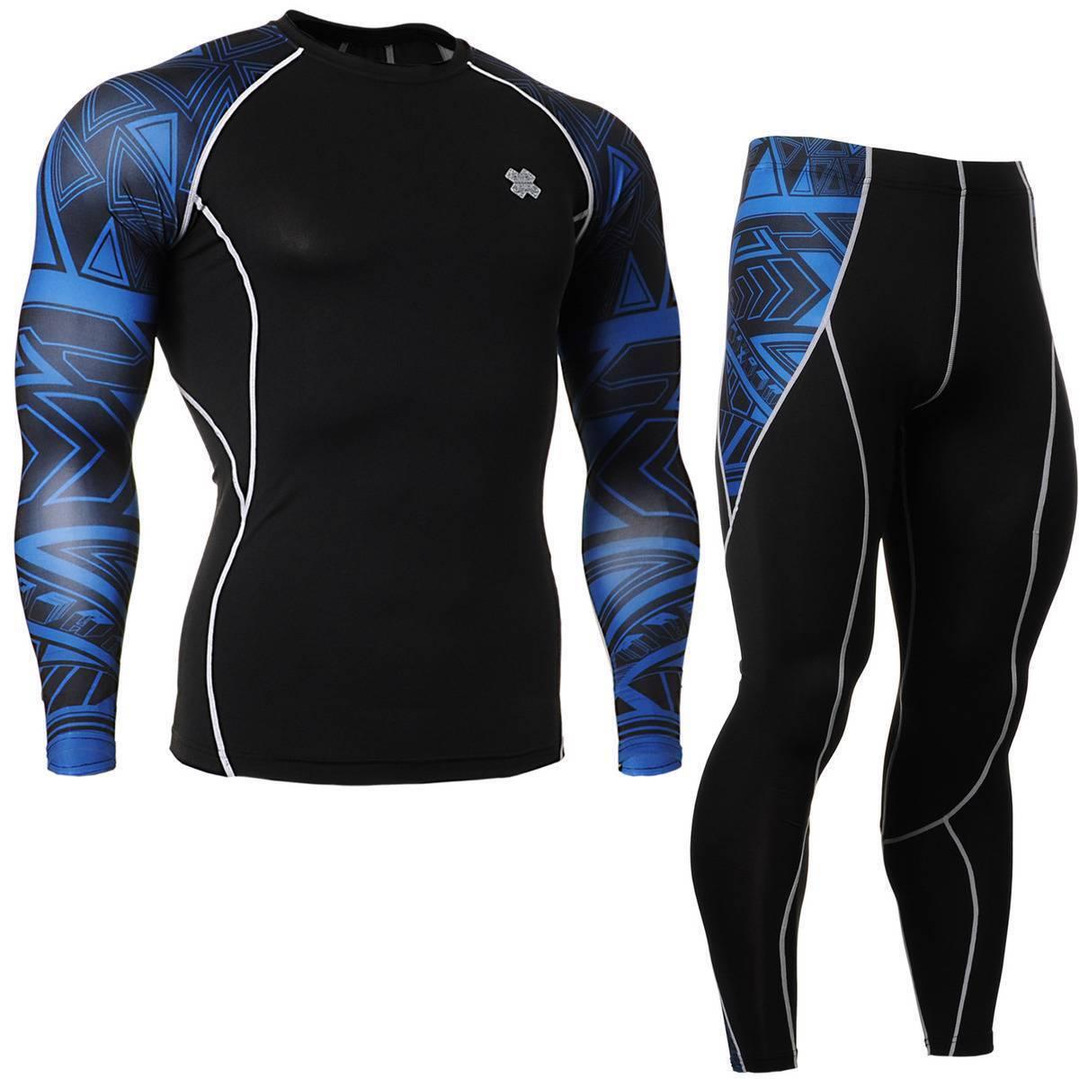 FIXGEAR CPD P2L-B1 SET Compression Shirts & Shorts Skin-tight MMA Training Gym