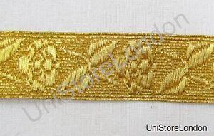 Braid-Rose-Lace-Gold-Mylar-19mm-Rank-Marking-Trim-R1057