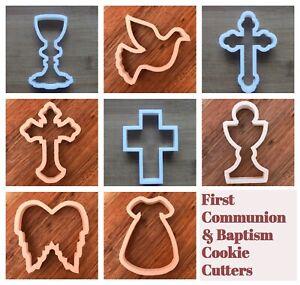 Cross Crucifix Cookie Cutter Biscuit Pastry Fondant Stencil Communion FI3