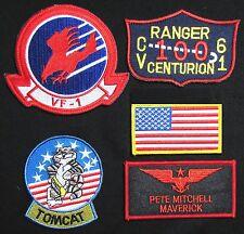 TOP GUN MAVERICK PETE MITCHELL US NAVY NAME TAG FLIGHT JACKET IRON 5 PATCH SET