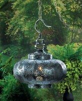 Punched Moroccan Hanging Pendant Lamp Lantern Chandelier Candle Holder Light