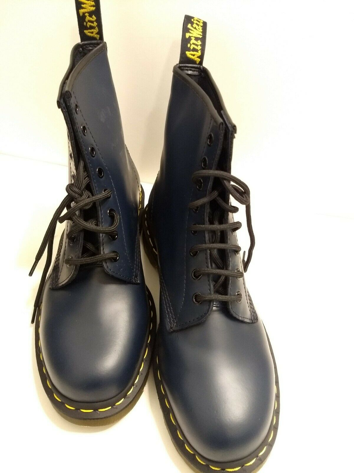 Dr Martens Doc Martens Mens 8-Eyelet Smooth Leather Boots Size 11 NAVY blueE 1460