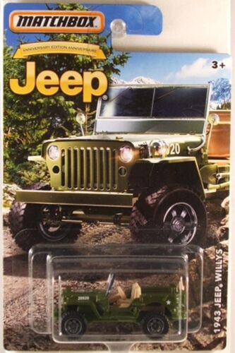 MATCHBOX Jeep series 1943 Jeep Willys NEW in BLISTER 2016 issue