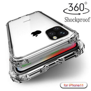 For-Apple-iPhone-11-Pro-Max-XR-XS-Shockproof-Bumper-Silicone-Clear-Case-Cover