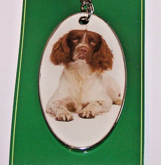 Dog Keyring English Springer Spaniel Best of Breed Collectible Fob Secret Santa