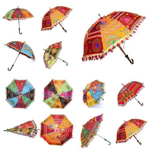 10 PC Lot Indian Umbrellas Decorative Wedding Handmade Embroidery Women Parasols