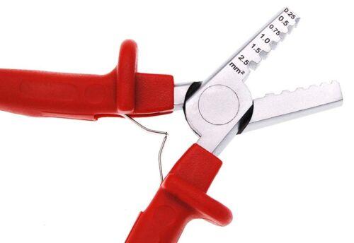 Crimpzange für Aderendhülsen 0,25-2,5 mm² Hülsen Presszange