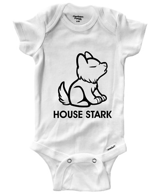 Game of Thrones House Stark Newborn Jumpsuit Baby Short Sleeve Bodysuit Rompers