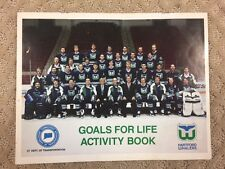 Hartford Whalers Goals For Life Activity Book from 1993-TAKE A LOOK NOW WOW 14-C