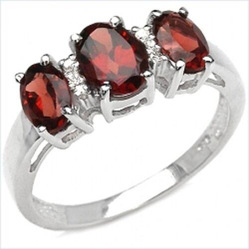 Seducenti Melograno Diamante-Ring 925 Sterl. Sterl. Sterl. argentoO KT cbe8ec