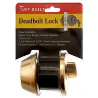 Deadbolt Lock Turnbutton From Inside & Key From Outside Brass Dead Bolt Locks
