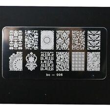Nail Art Konad Plate Symmetric Wild Flowers Pineapple  Nails Stamp Template bc06
