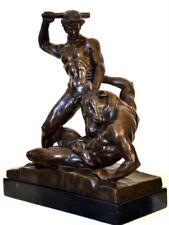 Grichische Mythologie -Theseus und Minotaurus -  Bronze Statue auf Marmorsockel
