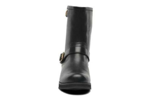 NEW Clarks Womens Leather Ankle boots Black Biker padded Winter casual boots