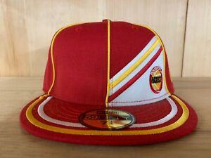 VINTAGE-NEW-ERA-HOUSTON-ROCKETS-FITTED-HARDWOOD-CLASSIC-RED-YELLOW-MEN-SZ-7-8