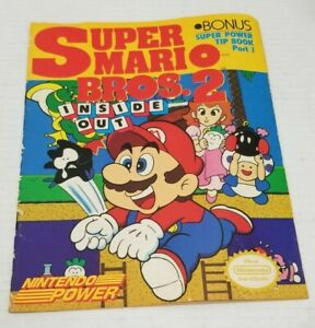 Super-Mario-Bros-2-Inside-Out-GREAT-CONDITION-1989-Nintendo-Power-Strategy-Guide
