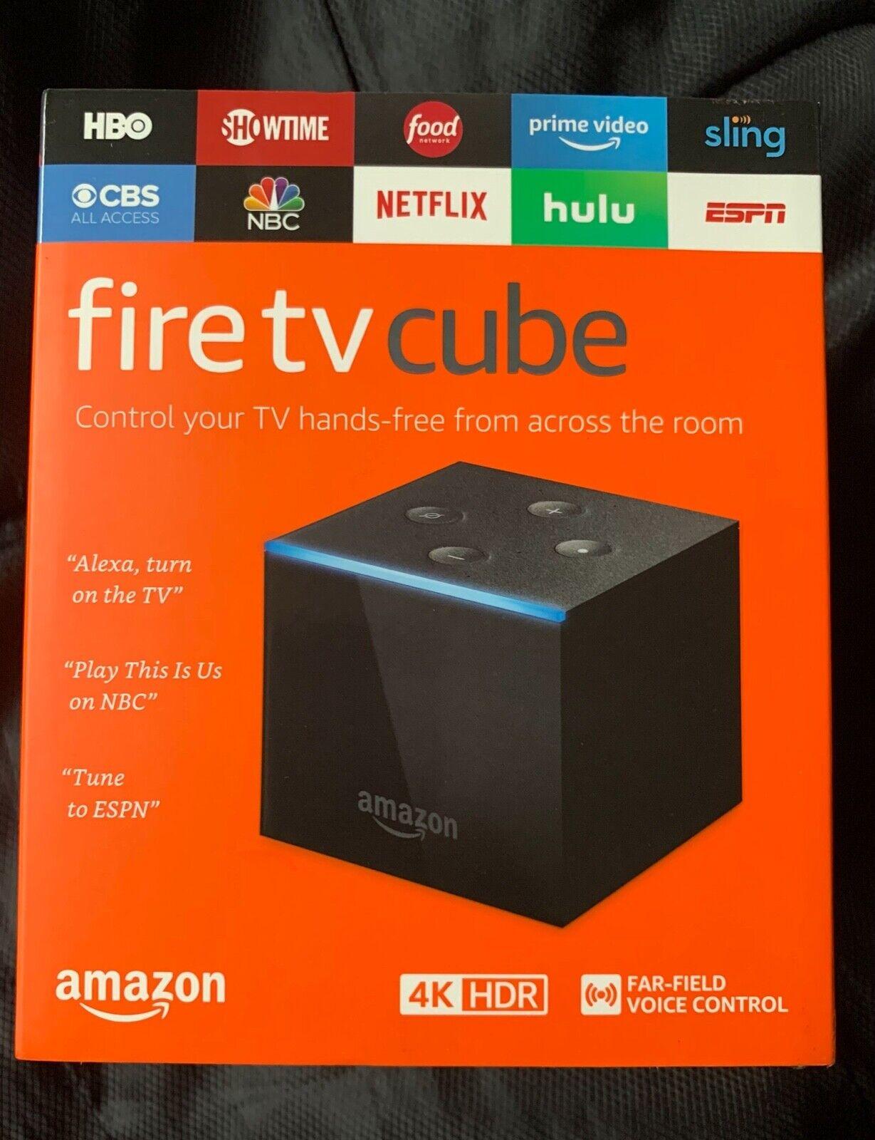 Fire TV Cube - 4K Ultra HD Streaming Media Player - Alexa Voice Remote - NEW alexa cube fire media new player remote streaming ultra voice