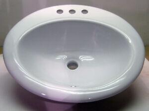 Porcelain Bathroom Sink Lavatory Vitreous China White Ebay