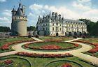 Chenonceau - Château et tour des Marques; parterres à la française