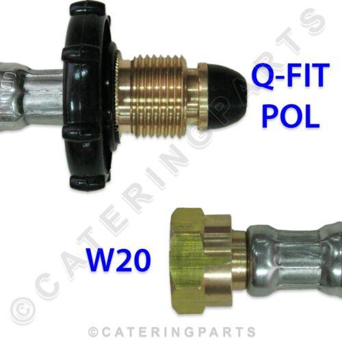 "2 x LPG HOSES Q-FIT POL x W20 35 INCH PIGTAIL GAS PIPE 35/"" LP BOTTLE CONNECTOR"