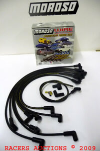 BBC-396-454-502-Chevy-Angled-Boot-HEI-Under-Header-Spark-Plug-Wires-Moroso-9866M