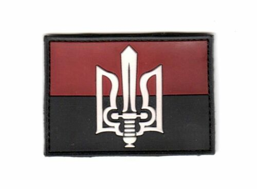 3D PVC Ukrainian Insurgent Army UPA Flag Patch Combat Tryzub Правий Сектор