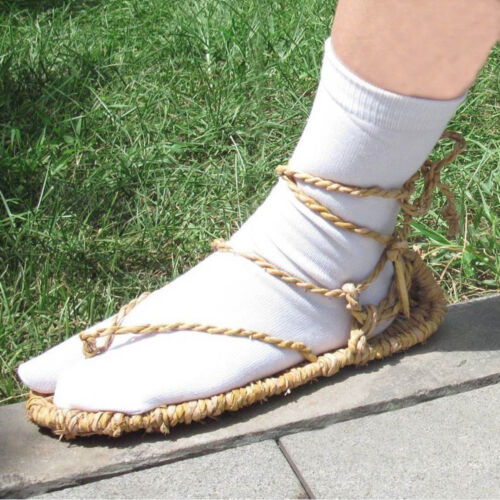 BLEACH STRAW SANDALS SLIPPER SHOES FREE WHITE SOCKS COSPLAY  Halloween
