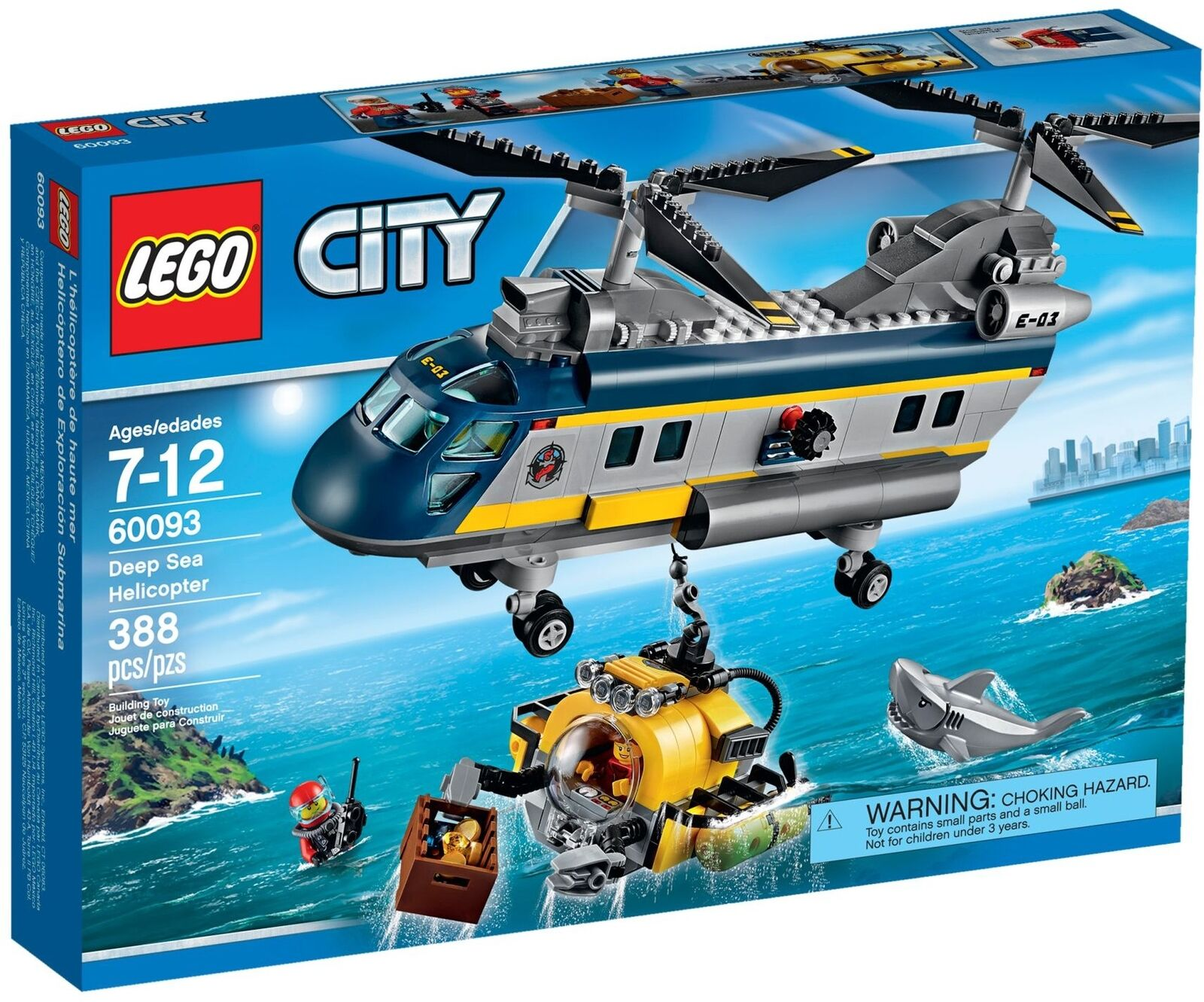 LEGO City 60093 Deep Sea Helicopter , Brand New In Box, Retired.