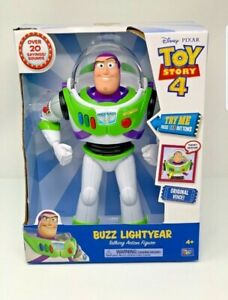 "Disney Pixar Toy Story 4 Buzz Lightyear 12"" Action Talking Figure New In Box"