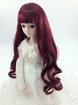 8-9'' 1/3 BJD Doll Wig Hair 22~24cm SD DZ DOD LUTS Wavy Curly Toy Hair 8 Colors