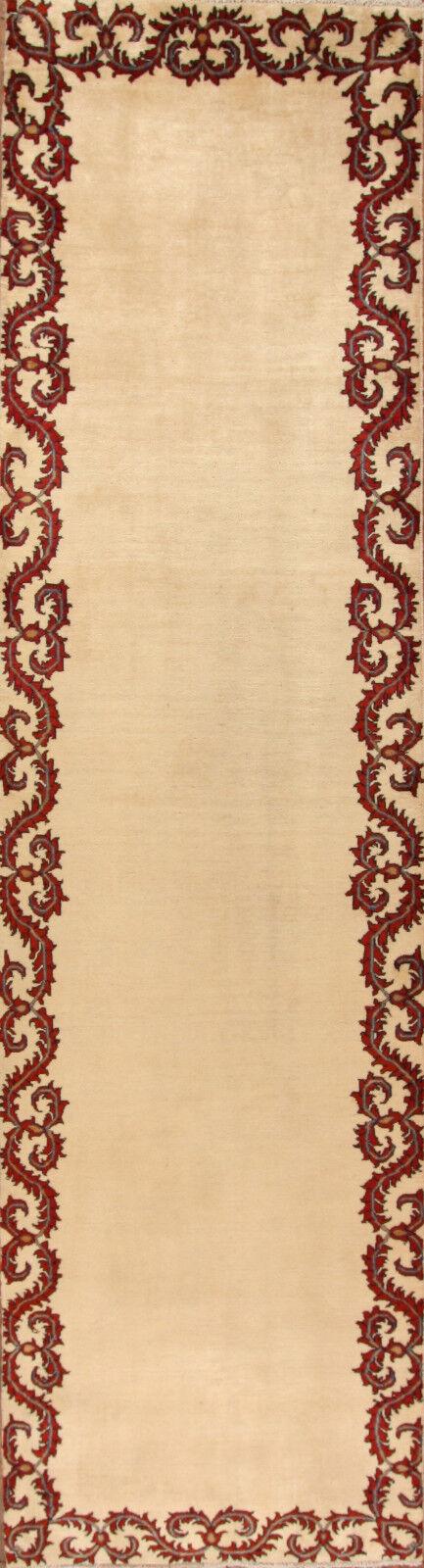 Corrojoor de alfombra oriental real mano-anudada de la alfombra persa no. 4436 (313 x 94) cm