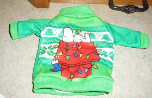 Green Casual Holiday Top w//Snoopy Motif for American Model 22 in Doll