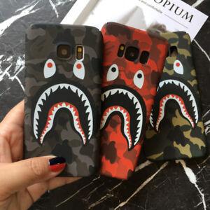 brand new 0f4e3 566d6 Shark Mouth Camo Camouflage Bape Polish Hard Case Cover For Samsung ...