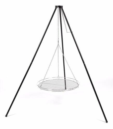 Dreibein Schwenkgrill Schwenker  wahlweise mit Grillrost verchromt  50-60-70 cm