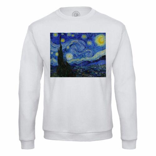 Sweat Shirt Homme Vincent van Gogh Nuit Etoilée Peinture Art