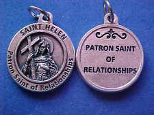 "St HELEN Patron Saint Of RELATIONSHIPS Saint Medal Silver Tone 3/4"" Marrage"