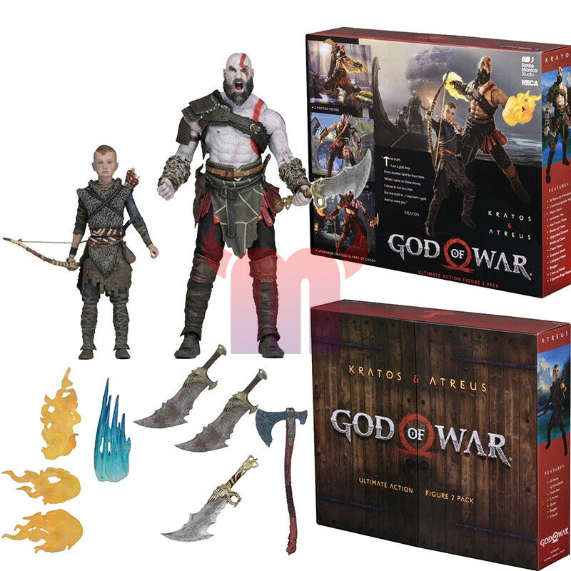 God Of War 2018 Ultimate Kratos Atreus 7 2pk Neca Action Figure For Sale Online Ebay