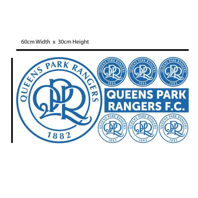 Queens Park Rangers Loftus Road Stadium Mural QPR Crest Wall Sticker Set Art