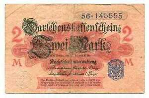 GERMANY  2  Mark 1914 P 54   Uncirculated