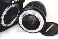 Olympus OM Zuiko lens to Nikon D200 D300 D700 D90 D60 D600 D800 flange adapter