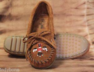 Minnetonka-Damen-Moccasin-Perlenstickerei-braun-Indianer-Modell-602