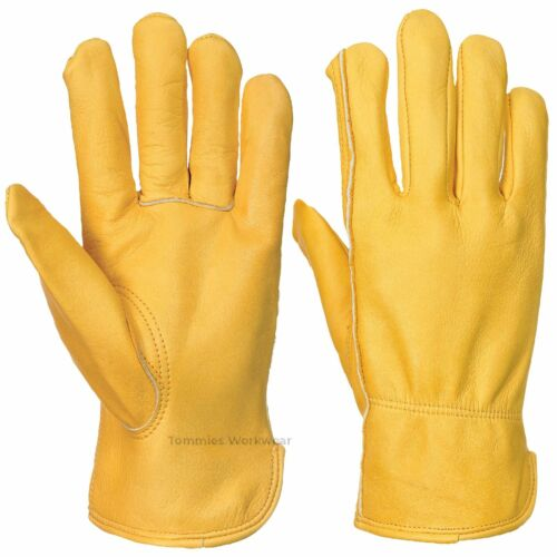 Leather Work Safety Gloves High Quality HGV Drivers Fork Lift Trucker Thermal
