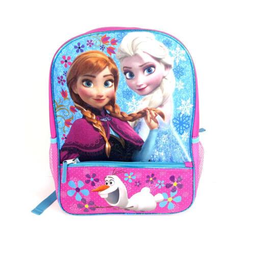 Disney Princess Frozen Backpack Adjustable Straps Pink Bookbag Elsa Anna Olaf