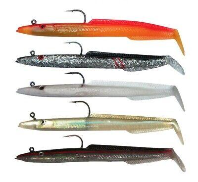 Sidewinder Super Slims skerries NATURAL With blue Sea Fishing Sandeel Lures
